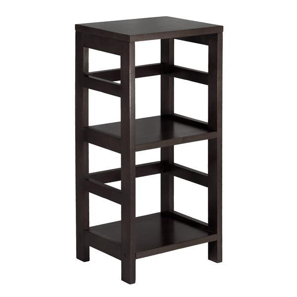 Winsome Wood Leo 29.21-in x 13.39-in x 11.22-in Wood Espresso 2-Tier Storage Bookshelf