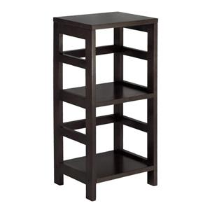 Winsome Wood Leo 29.21-in x 13.39-in x 11.22-in Wood Espresso 2-Tier Storage Bookshelf