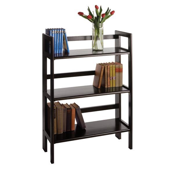 Winsome Wood Terry 27.8 x 39-in Folding Bookcase Black