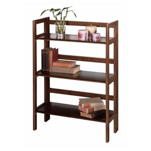Winsome Wood Terry 27.8 x 39-in Folding Bookcase Walnut