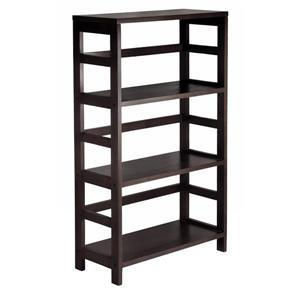 Winsome Wood Leo 42-in x 25.20-in x 11.20-in Wood Espresso 3-Tier Storage Bookshelf