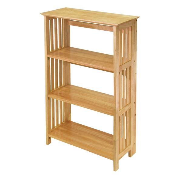 Winsome Wood Mission 42-in x 25.98-in x 12.28-in Natural 4-Tier Folding Shelf