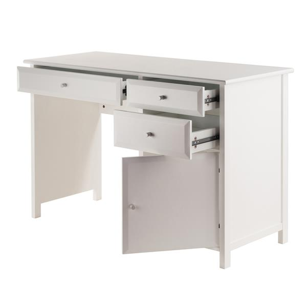 Winsome Wood Delta 47.24-in x 30.71-in White Wood  Office Writing Desk