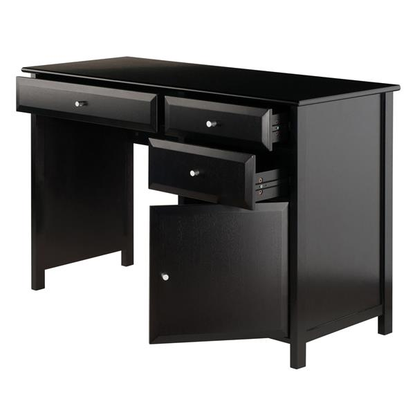 Winsome Wood Delta 47.24-in x 30.71-in  Black Wood Office Writing Desk