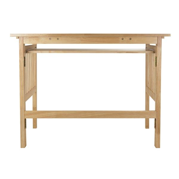 Winsome Wood Mission 40-in x 30-in Natural Wood Computer Desk