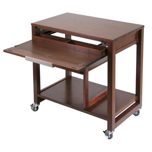 "Bureau pour ordinateur Rockford, 32,5"", bois, espresso"