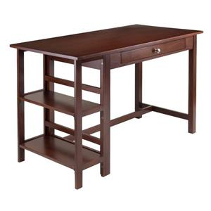 Winsome Wood Velda 50-in x 30-in Walnut Two Shelf Writing Desk