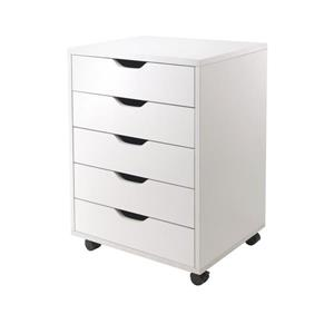 Winsome Wood Halifax5 Drawers Composite White File Cabinet