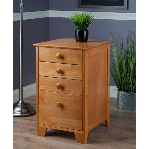 Winsome Wood Studio Cabinet - 4 Drawers - 28.94-in - Wood - Honey
