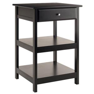 Winsome Wood 21-in x 30-in Black Wood Delta Printer Stand