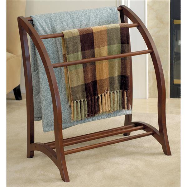 Winsome Wood 30-in x 36-in Walnut Betsy Blanket Rack
