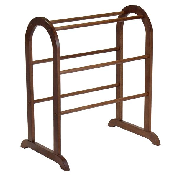 Winsome Wood 30-in Antique Walnut Eleanor Quilt Rack