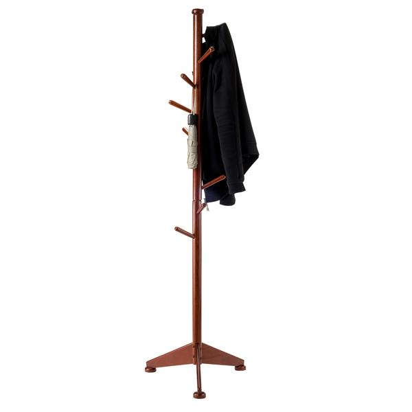 Winsome Wood Lily 70-in Walnut Wood 9 Peg Coat Tree