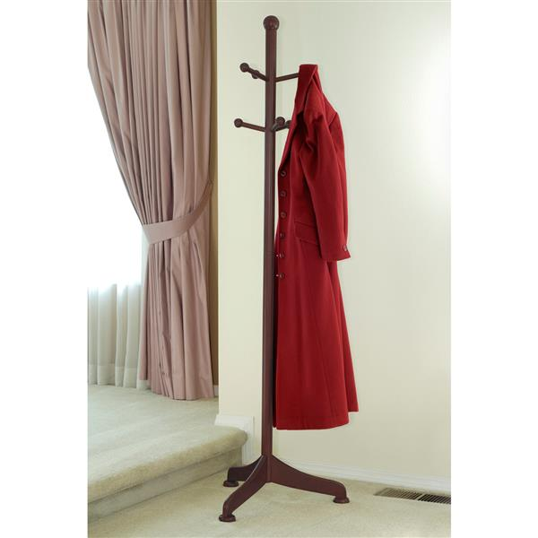 Winsome Wood Philip 71-in Brown Wood 6 Peg Coat Tree