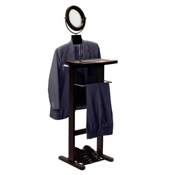 Winsome Wood Carson Valet 55.59-in Espresso Wood Stand with Mirror