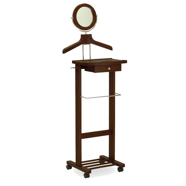 Winsome Wood 58-in Walnut Wood Vanity Valet Stand with Mirror