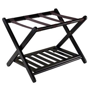Winsome Wood Reese 20.00-In x 26.54-In Espresso Wood Luggage Rack With Shelf