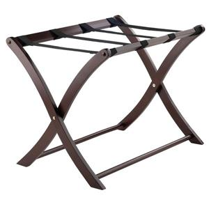 Winsome Wood Scarlett 20.00-In x 26.54-In Cappuccino Wood Luggage Rack