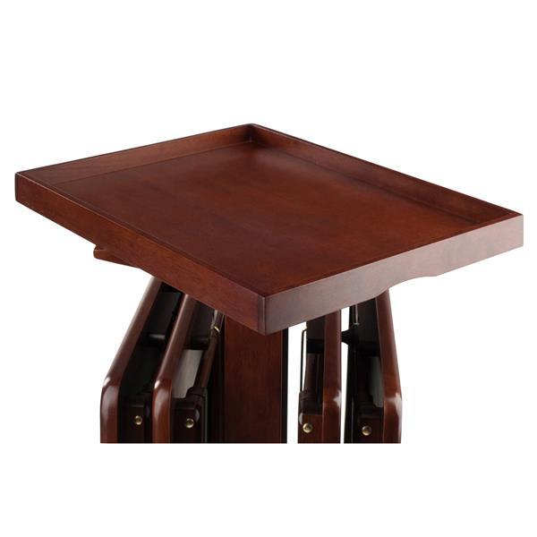 Ensemble de tables à collations, bois, noyer, 6 pièces