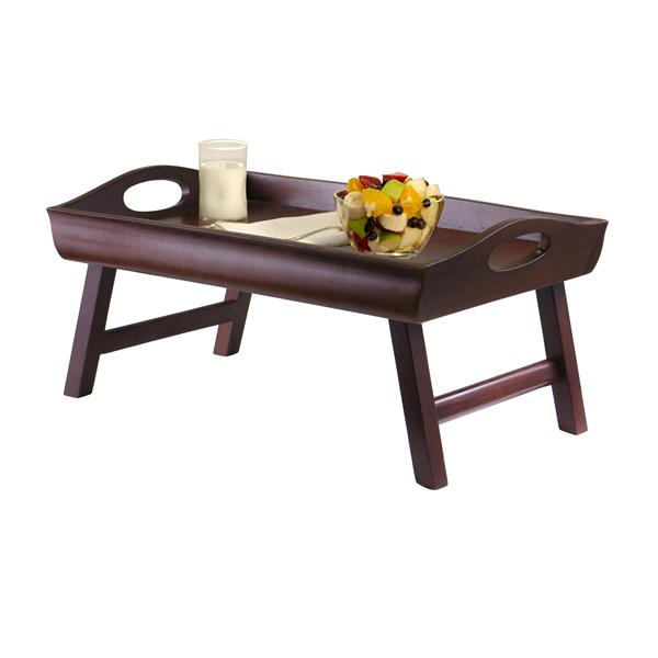 Winsome Wood Square Folding Table 36-in Grey