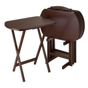 Ensemble de tables Corbett, bois, brun, 5 pièces