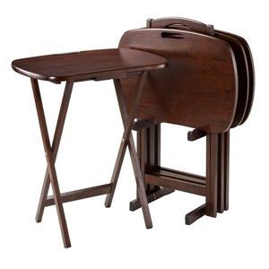 Tables pour télévision Lucca, bois, noisette, 5 pièces