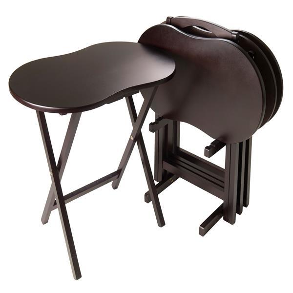 Ensemble de tables Skippy, bois, espresso, 5 pièces