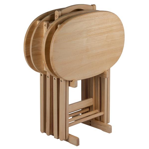 Ensemble de tables Nathan, bois, naturel, 5pièces