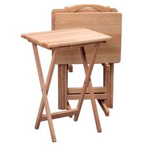 Ensemble de tables Alex, bois, 5 pièces