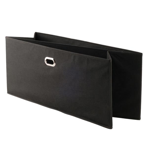 "Paniers pliables en tissu Torino, 23,8"", noir, ens. de 2"