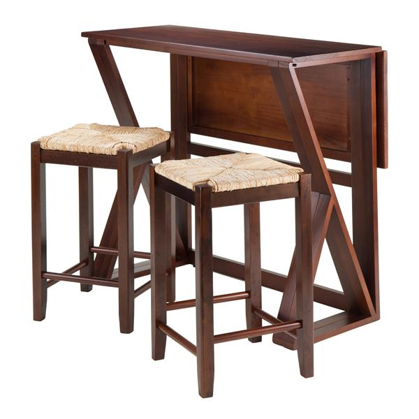 Winsome Wood Harrington 3 Piece Wood Dining Set with Drop Leaf