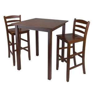 Winsome Wood Parkland 29-in 3 Piece High Table Dining Set