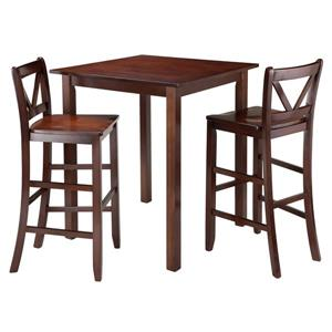 Winsome Wood Parkland 3 Piece Wood High Table Dining Set