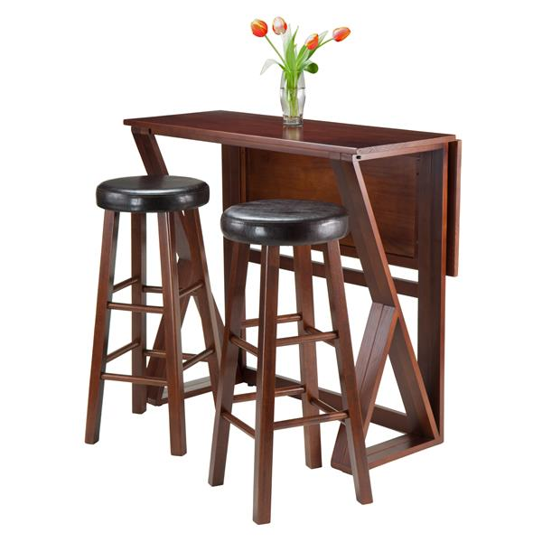 Winsome Wood Harrington 3 Piece Dining Set with Drop Leaf