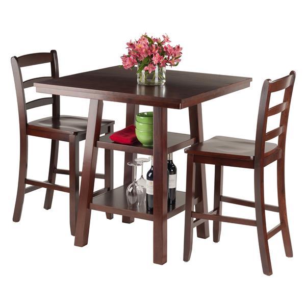 Ens. de salle à manger Orlando, bois, brun, 3 pièces