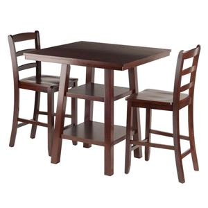 Winsome Wood Orlando Brown 3 Piece Wood Dining Set