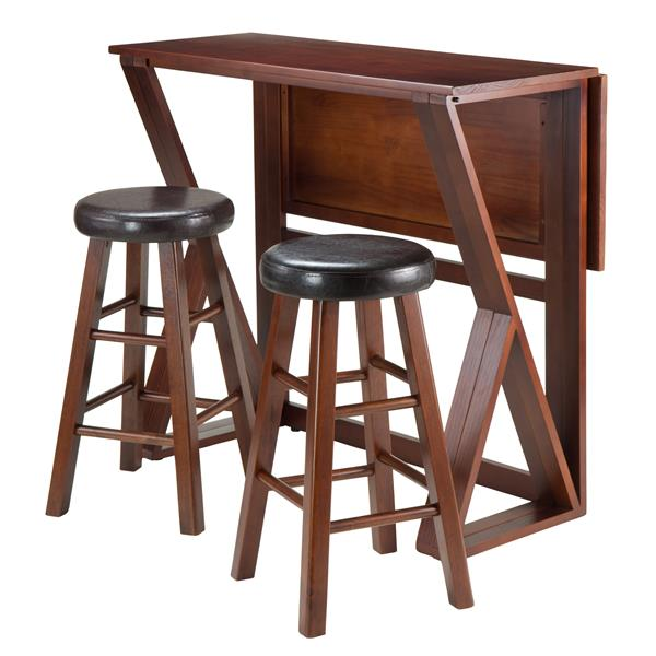 Winsome Wood Harrington Brown 3 Piece Wood Dining Set