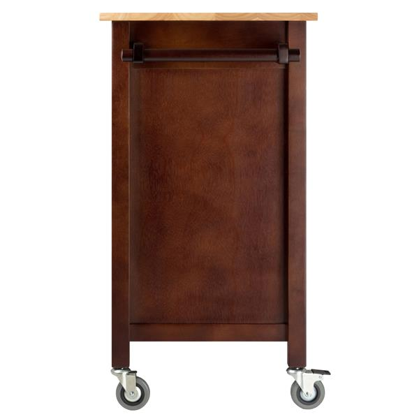 Winsome Wood Mabel 42.72-in x 35.432-in Walnt Wood Kitchen Cart