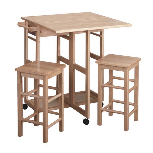 Économiseur d'espace Suzanne, bois, naturel, 3 pièces