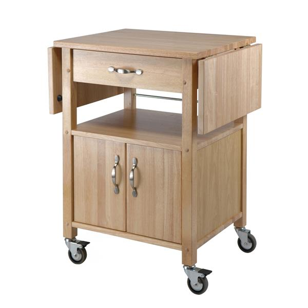Winsome Wood Rachael 43-in x 33-in Natural Wood Kitchen Cart