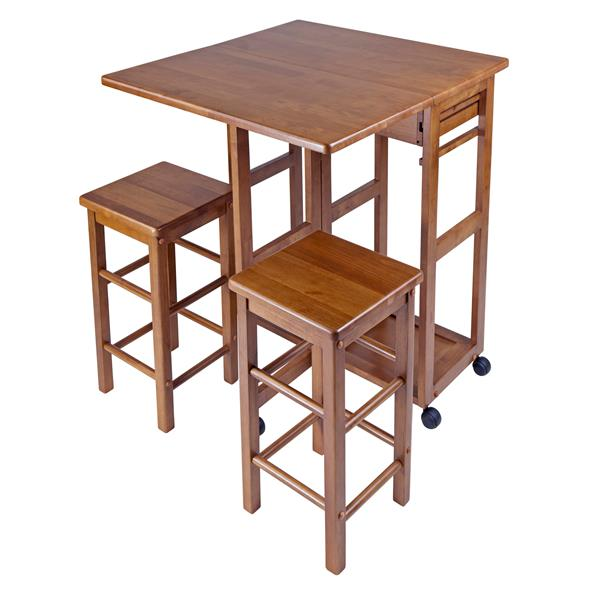 Winsome Wood Suzanne Space Saver Set - Wood - Teak