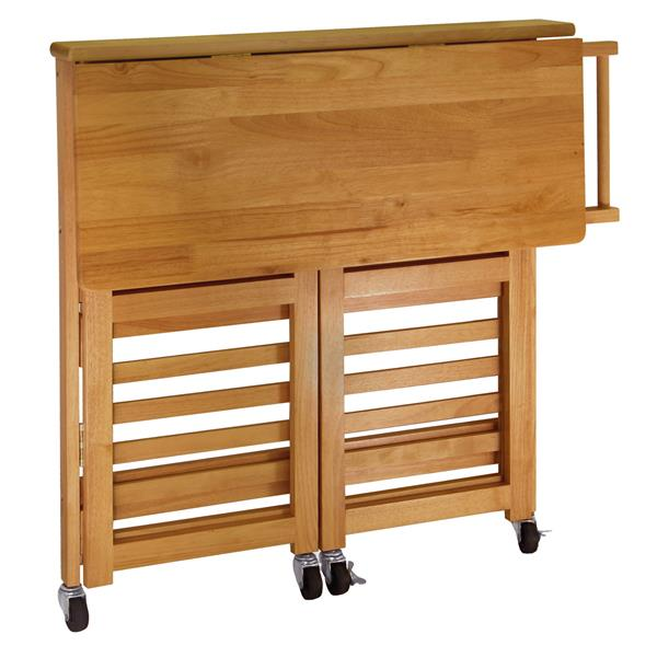Winsome Wood Radley 38-in x 34-in Natural Wood Foldable Kitchen Cart