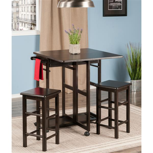 Winsome Wood Suzanne Space Saver Set - Wood - Brown