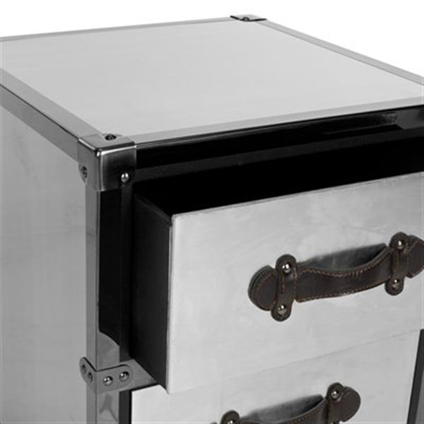 Safavieh 21.30-in x 17.70-in Gage 2-Drawer Rolling Chest