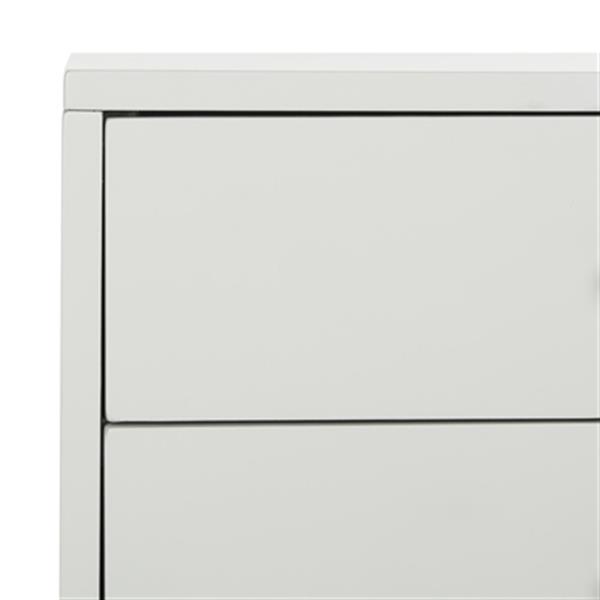 Safavieh Lyla 24-in x 18-in Light Grey Mid Century Retro Silver Cap Nightstand