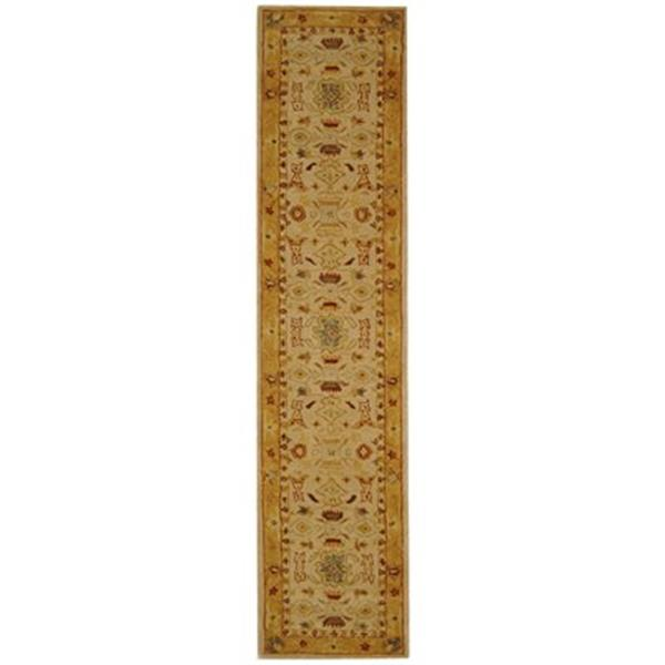 Safavieh Anatolia 27-in Ivory/Gold Runner