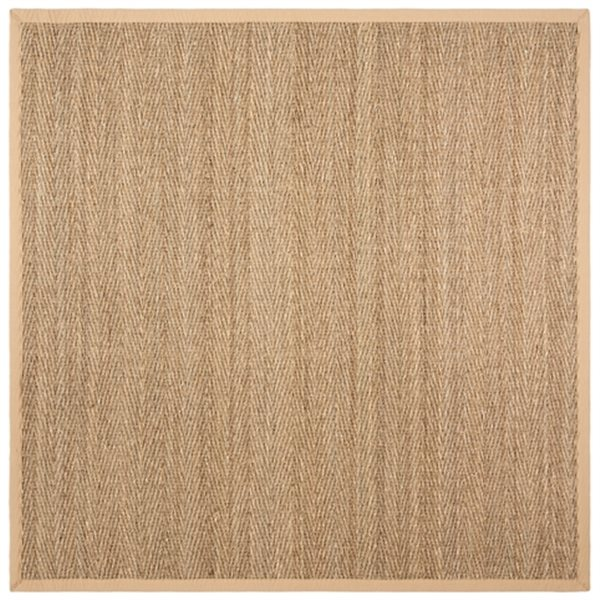 Safavieh Natural Fiber Seagrass and Beige Area Rug,NF115A-8S