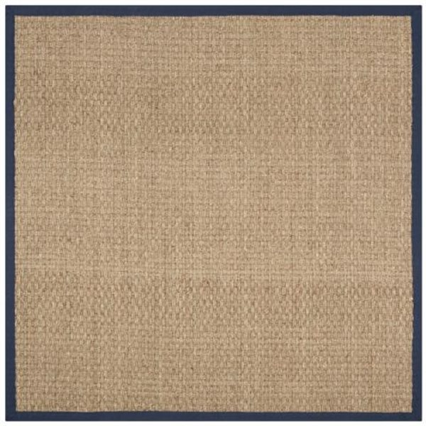 Safavieh Natural Fiber Beige and Blue Area Rug,NF114E-8SQ