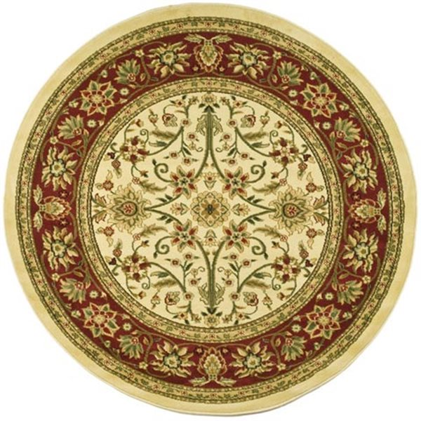 Safavieh Lyndhurst Ivory and Red Area Rug,LNH212K-8R