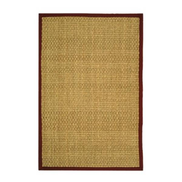 Safavieh Natural Fiber Natural and Red Area Rug,NF114D-8SQ